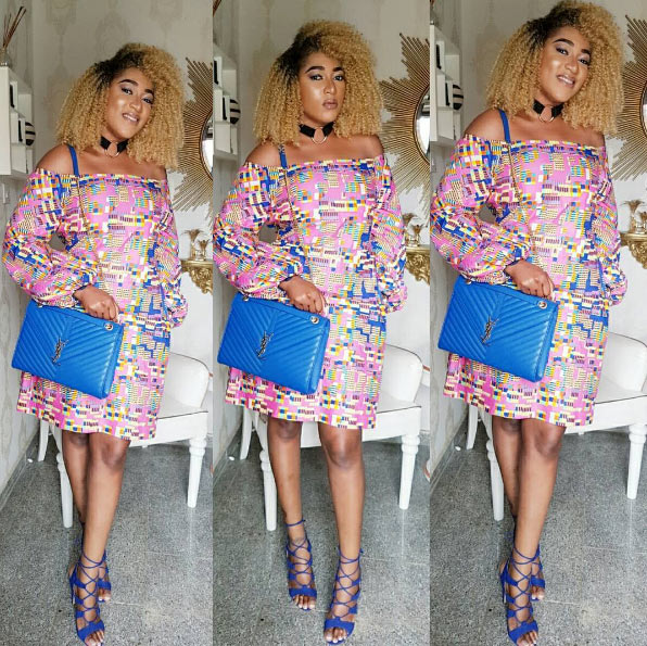 Rukky Sanda wows in beautiful ankara dress