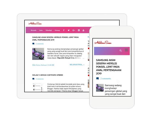 warna infinity yang indah dan menawan pada menu navigasi yang responsive