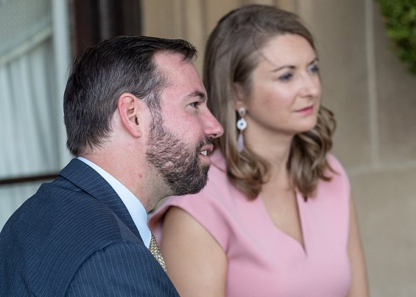 Grand Duke Henri and Grand Duchess Maria Teresa. Hereditary Grand Duke Guillaume and Hereditary Grand Duchess Stéphanie. Princess Stephanie