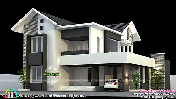 Modern mix roof 4 bedroom home