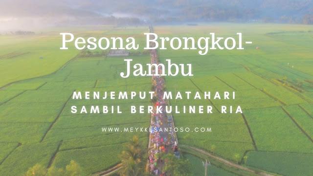 PESONA BRONGKOL - JAMBU, MENJEMPUT MATAHARI SAMBIL BERKULINER RIA