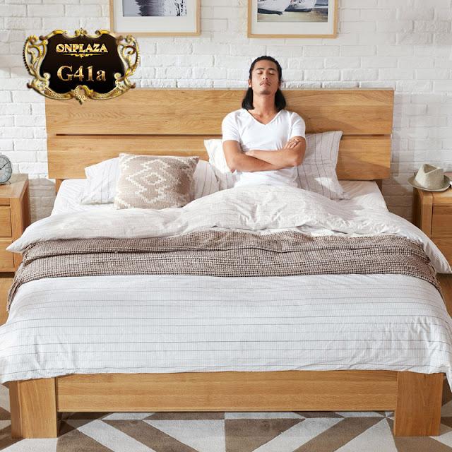 Mẫu giường ngủ đẹp giá rẻ thiết kế đơn giản G41; Giá :20,208,000 VND