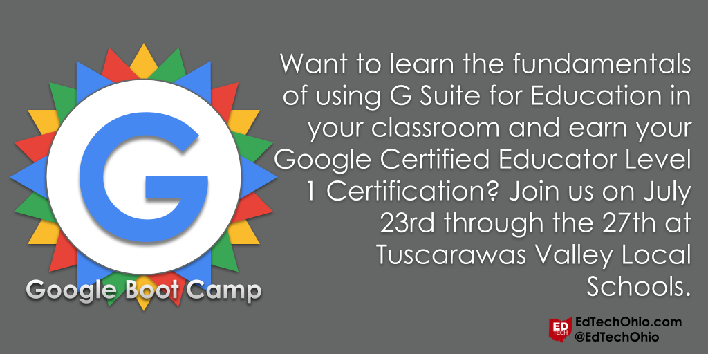 Edtech Ohio Google Educator Certification Level 1 Boot Camp