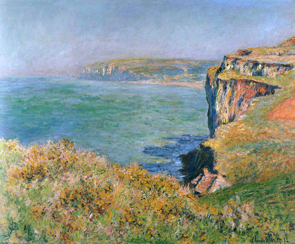 The Cliff at Varengeville (1882) by Claude Monet - UK culture blog