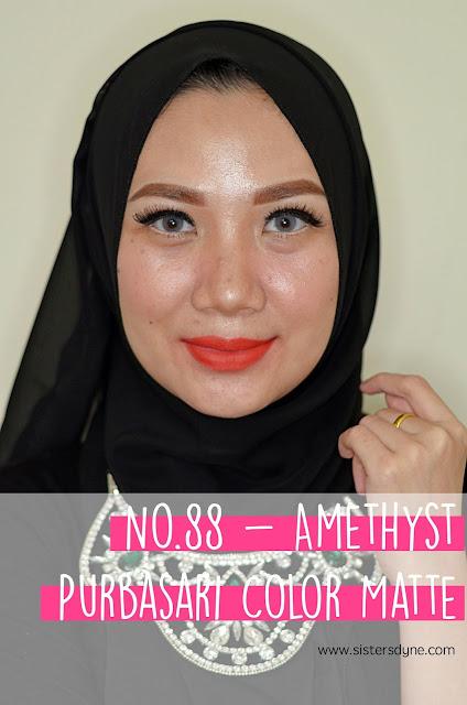 purbasari lipstick color matte 88 Amethyst