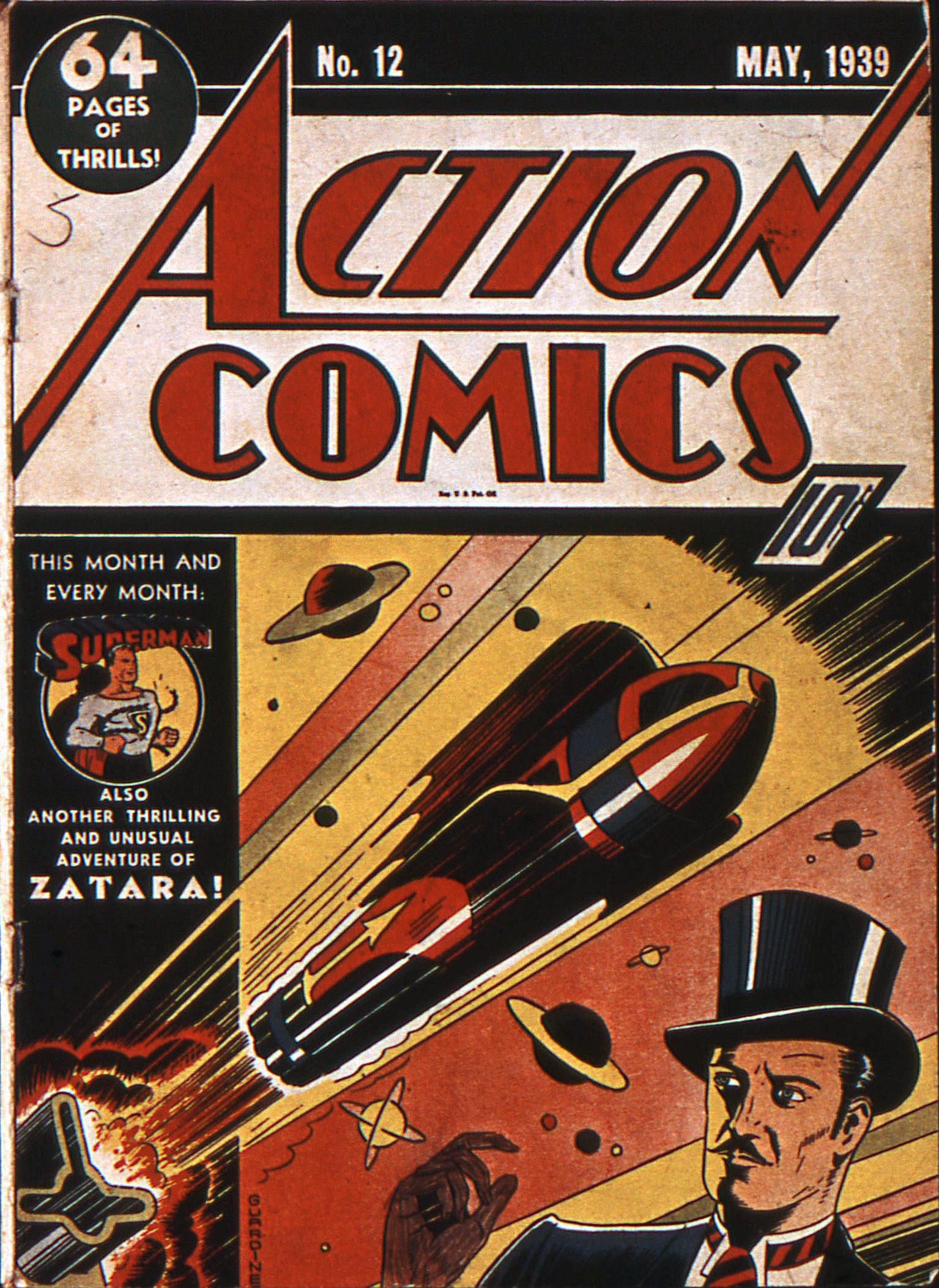 Read online Action Comics (1938) comic -  Issue #12 - 1