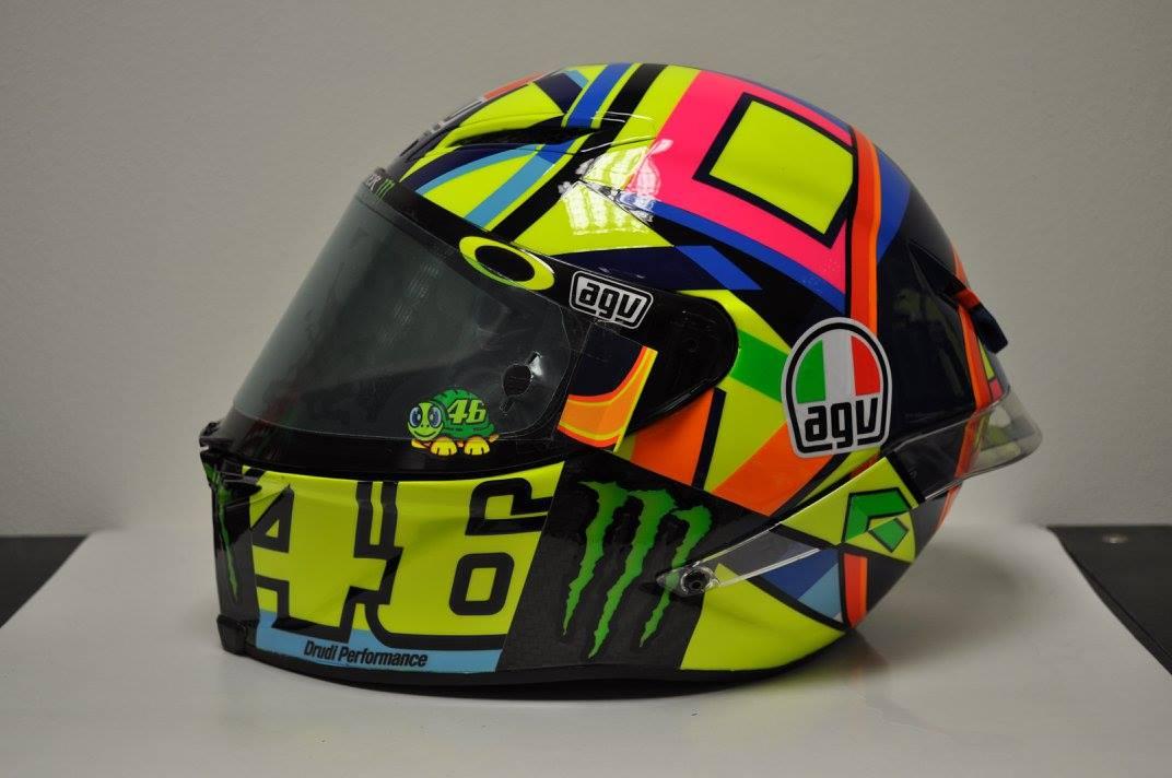racing helmets garage agv pistagp valentino rossi 2016 by. Black Bedroom Furniture Sets. Home Design Ideas