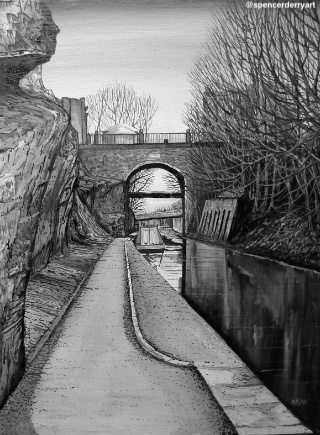 Shropshire Union Canal - Fine Art Painting