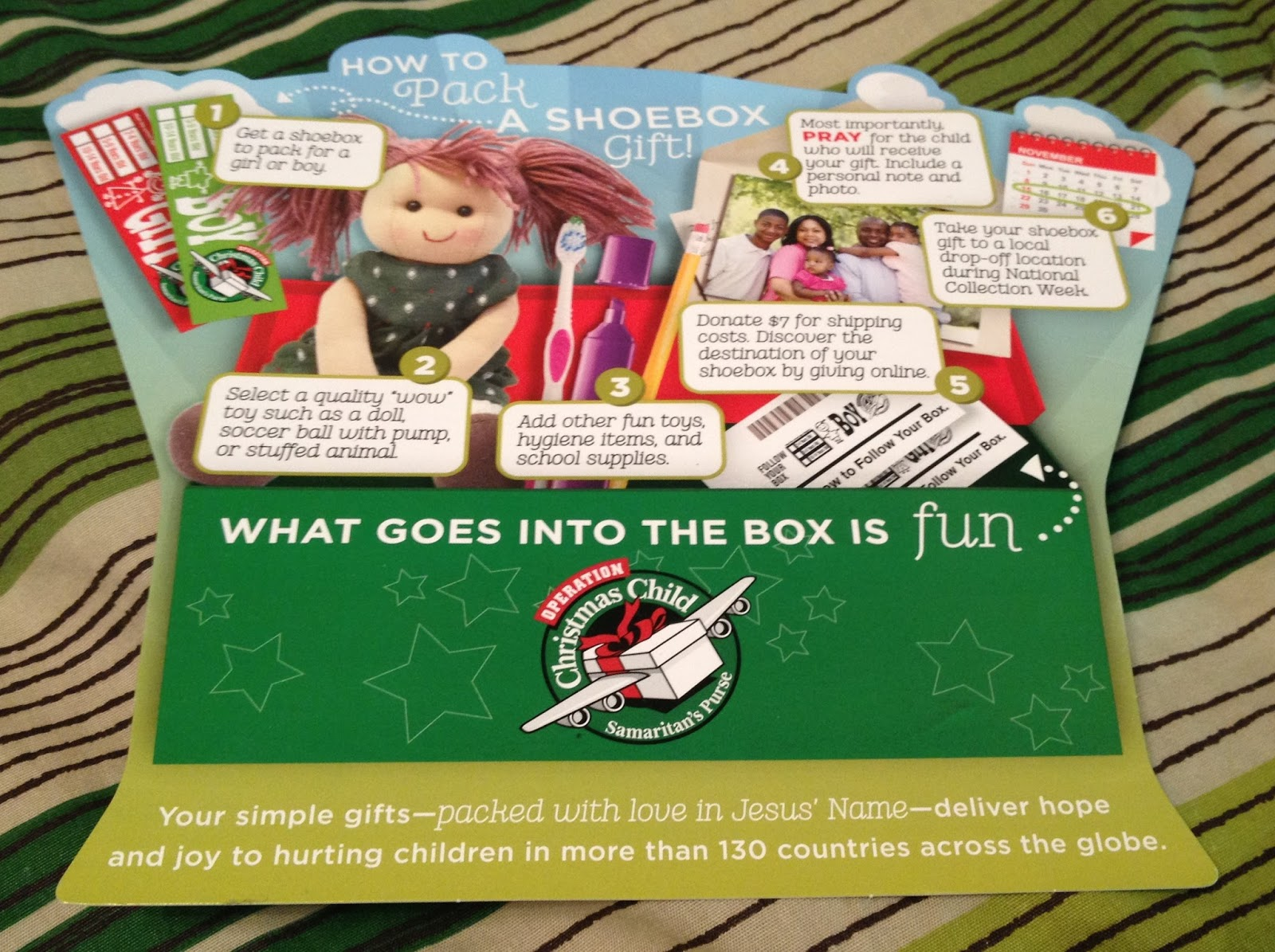Christmas Giveaway Flyer.Cummins Life How To Fill A Shoebox For Operation Christmas