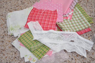 fabric scraps for doll quilt