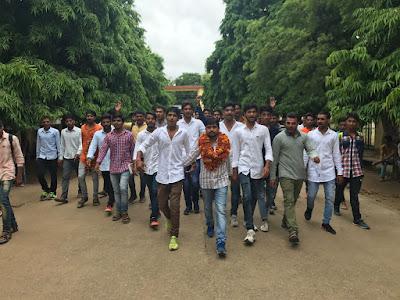 SNKP कॉलेज में छात्र नेता जसविंदर चौधरी के नेतृत्व में छात्र सभा का आयोजन किया गया।