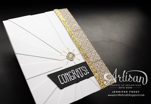 Sparkle and Shine, Bow Builder Punch, White Gel Pen detail, Engagement, Congratulations, Papercraft by Jennifer Frost