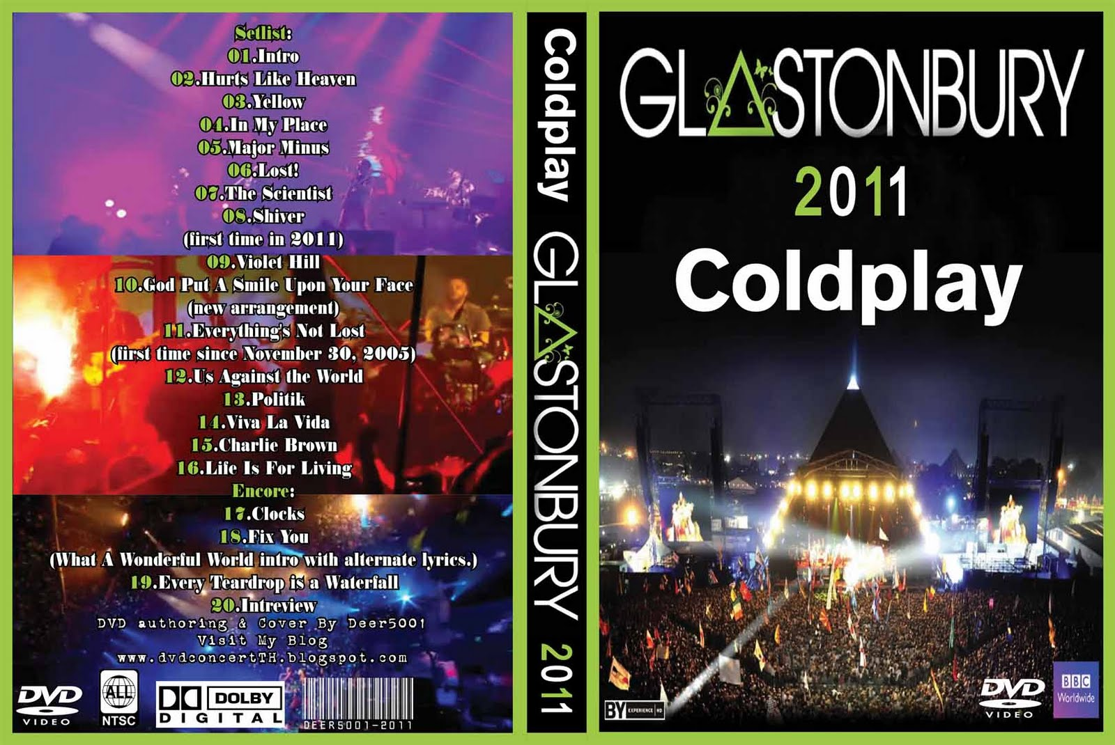 Dvd Concert Th Power By Deer 5001 Coldplay 2011 Live