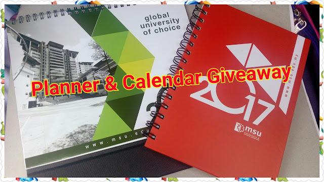 Planner & Calendar Giveaway.