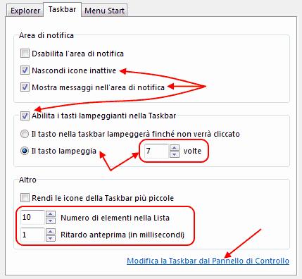 GT - Schermo/Taskbar