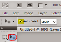 Adobe Photoshop Auto Select Option