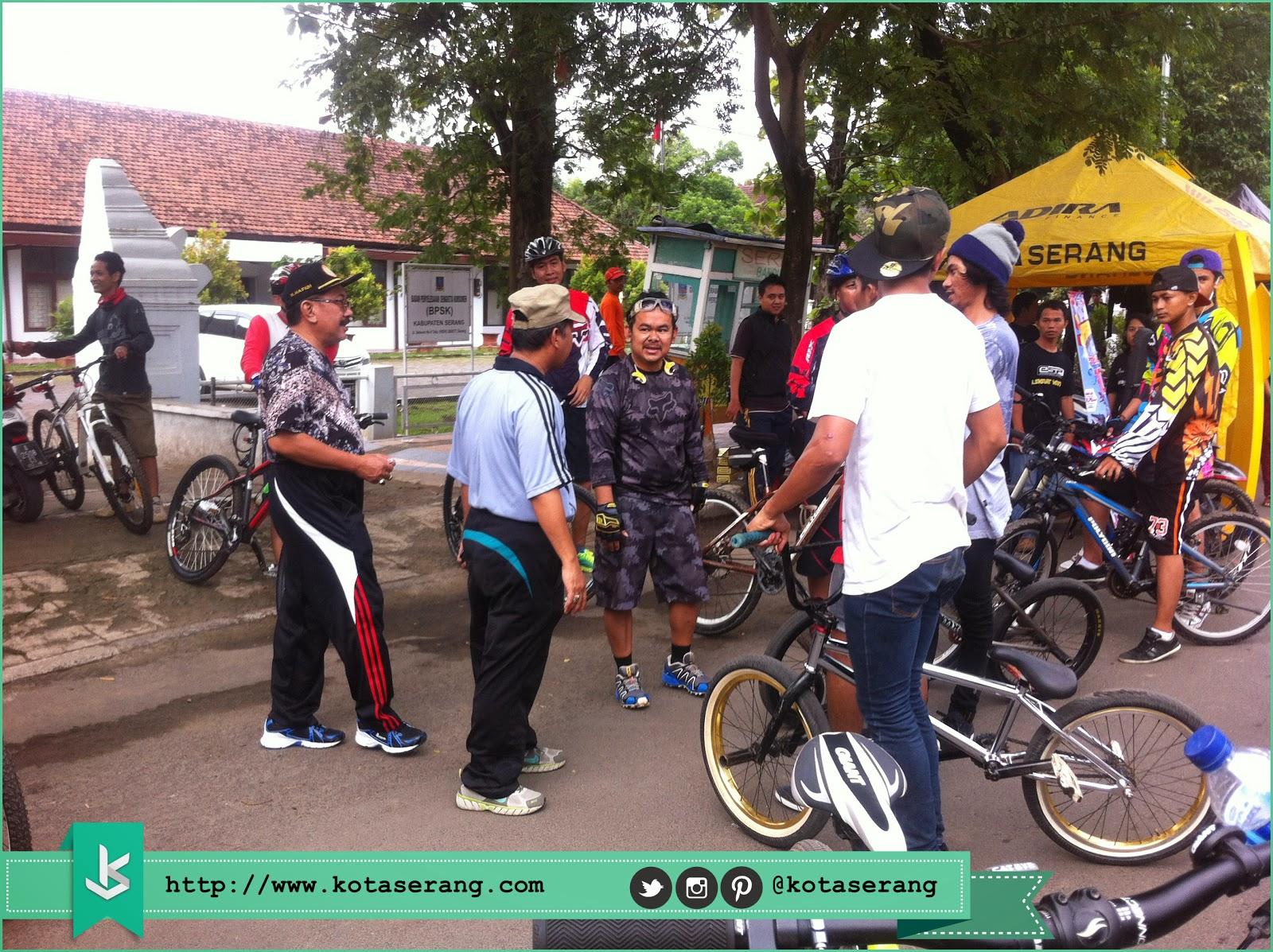 Rombongan Walikota Serang Disambut Oleh Komunitas BMX Kota Serang