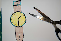 Printable wrist watches to teach time telling