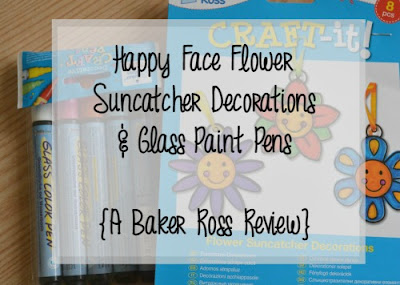Happy Face Flower Suncatcher Decorations and glass paint pens review