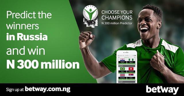 Win 300 Million Naira in Betway Predict And win Promo.