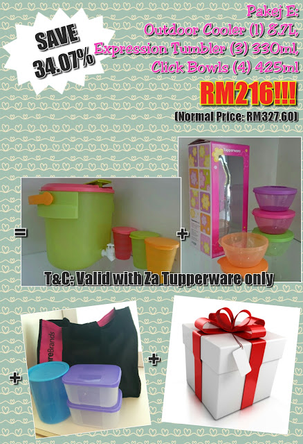 Tupperware membership package Feb - March 2017