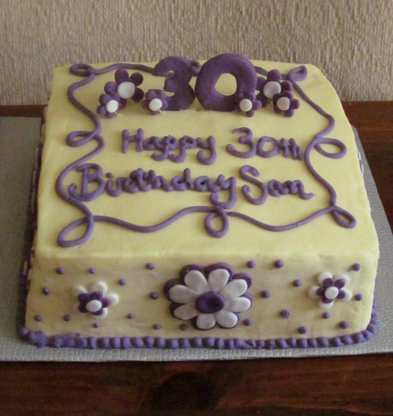 91 30 Birthday Cake Designs 30 Customized Designer Fondant