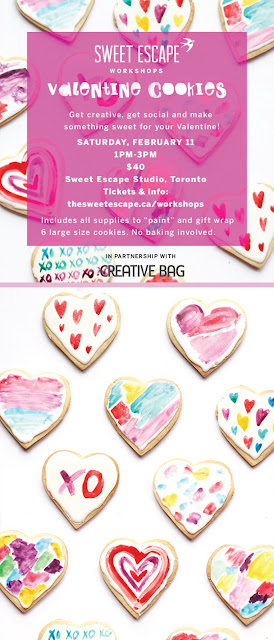 valentine cookie workshop with Melissa DiRenzo from The Sweet Escape