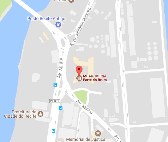 Mapa do Forte do Brum