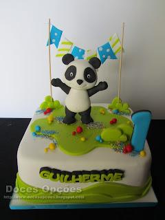 O Panda no 1º aniversário do Guilherme