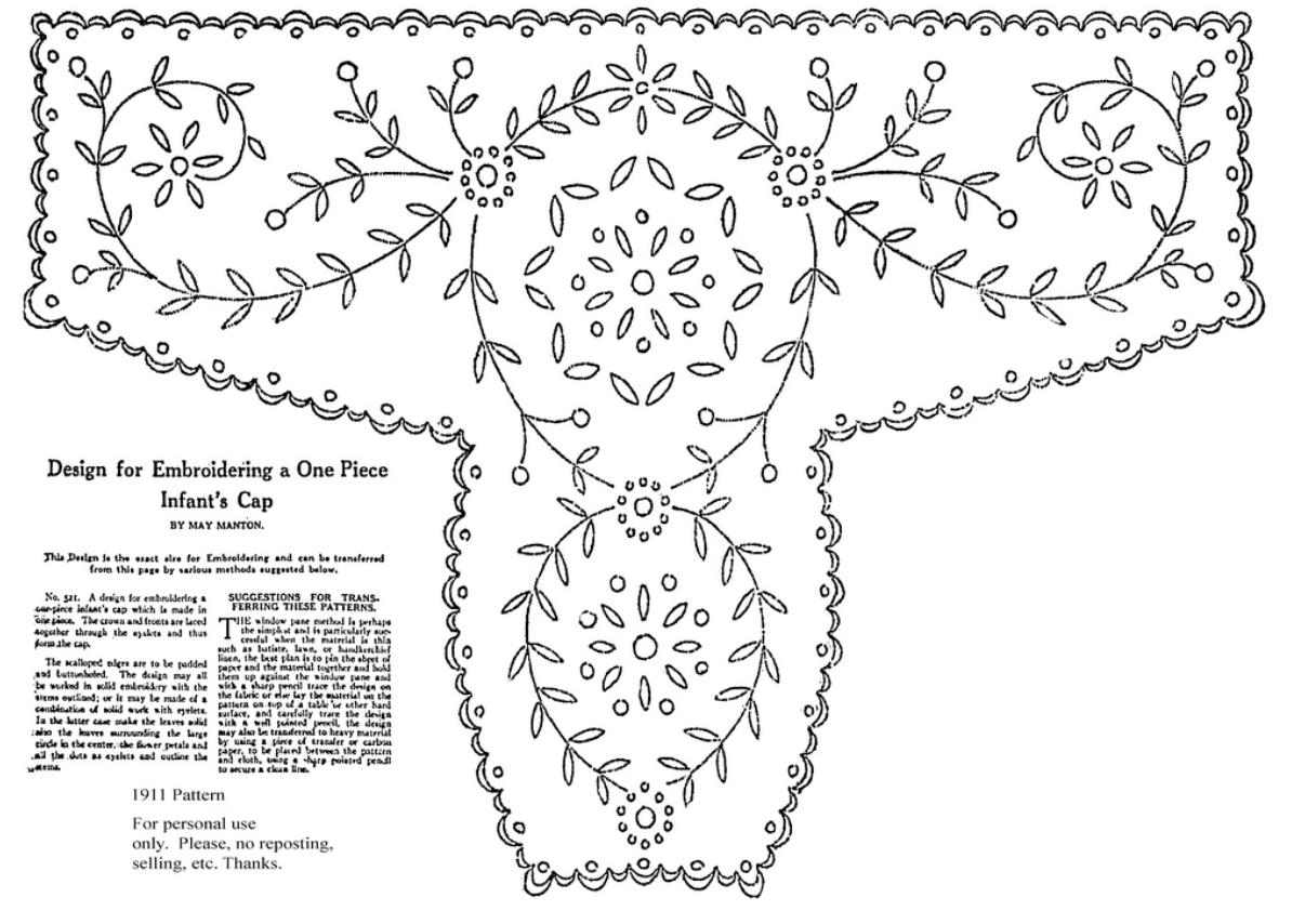 meggiecat: Baby Bonnet Embroidery