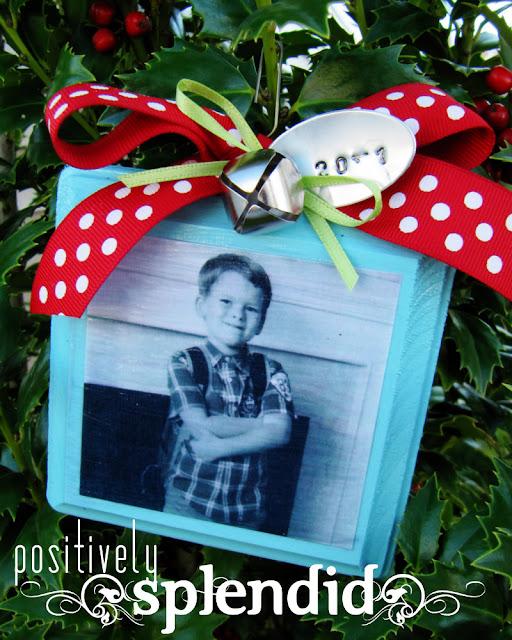 Positively Splendid Crafts: Photo Christmas List Ornament Tutorial