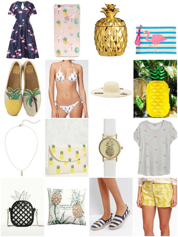 Pineapple & Flamingo Summer Shopping Picks - Ioanna's Notebook