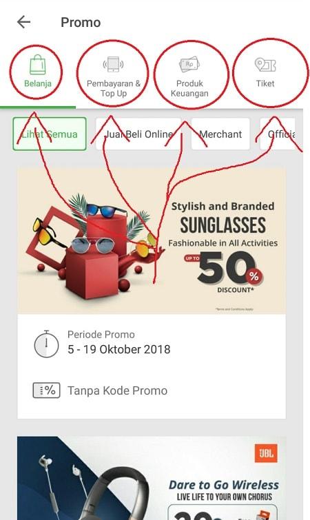 Halaman Promo Tokopedia