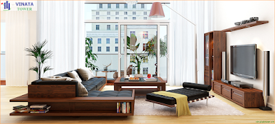 Thiết kế phòng khách Vinata Tower