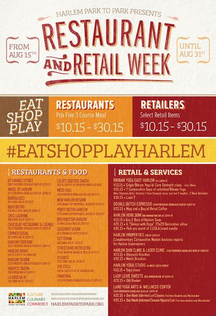Eating Fabulously, Christopher Stewart, Harlem, #eatshopplayharlem, Harlem Park to Park