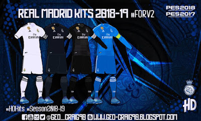PES 2017 Kitpack v2 HD Season 2018/2019 by Geo_Craig90