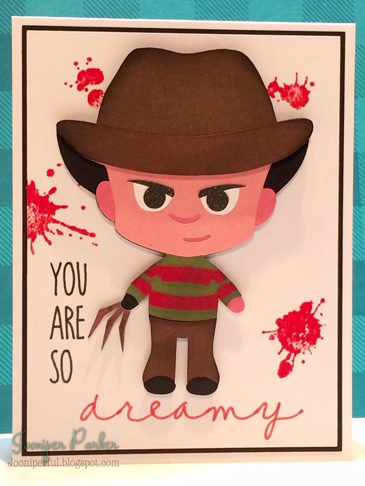 Freddy 1 Of 2 Horror Movie Valentine S Day Cards Cricut