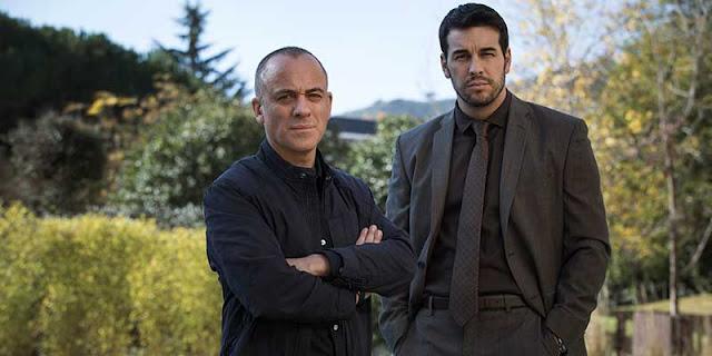 Javier Gutierrez y Mario Casas en 'Hogar', película Netflix