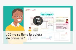 Infografias para el llenado de las boletas de evalucion de preescolar, primaria y secundaria