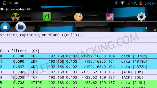 Wireshark on Intercepter-NG