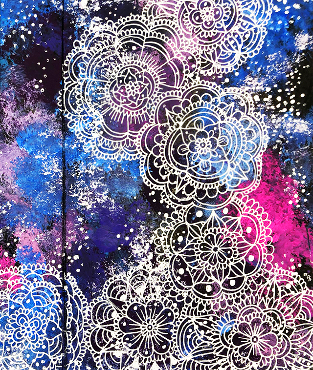 a peek inside my process- galaxy doodles