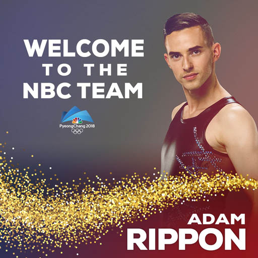 Adam Rippon will join NBC Sports as commentator/personality for the remainder of the 2018 Winter Olympics