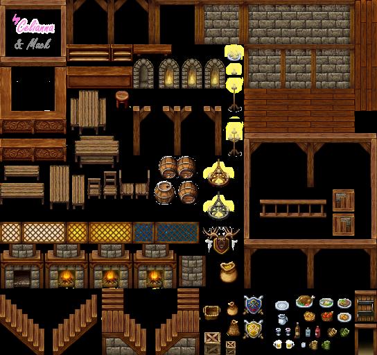 RPG maker Z: Castle Tilesets