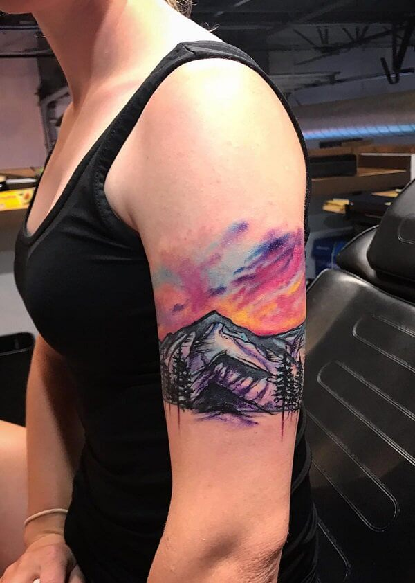 40 Tatuajes de paisajes que te dejarán sin aliento