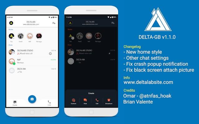 Download Whatsapp Mod Delta-GB versi 1.1.0 by bung yoyok