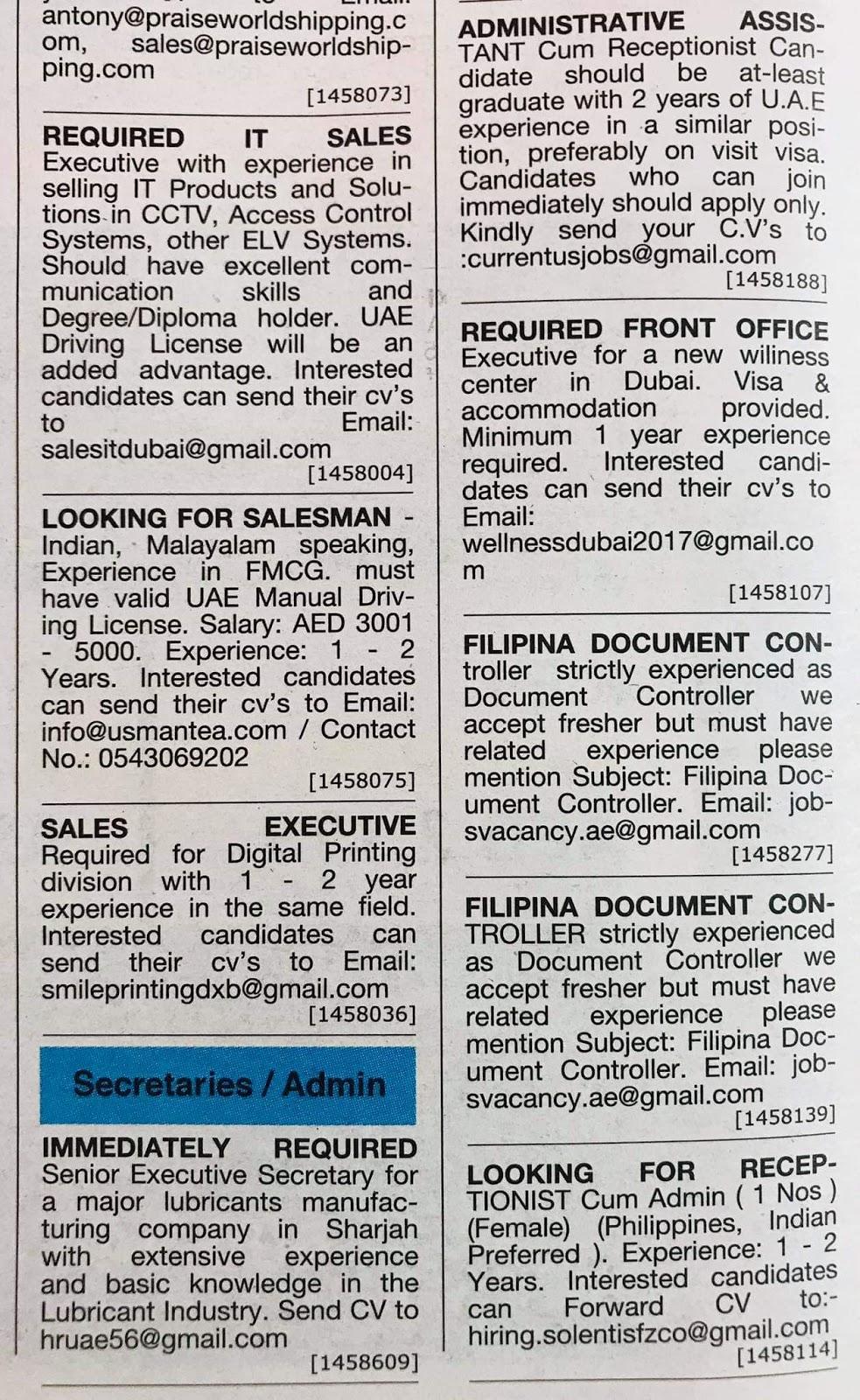 Jobs in Dubai Local Hiring Jobs Khaleej Times-UAE-1811927- Jobs in