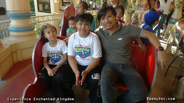 Ricci, Charles and I during our Grand Carousel Ride at Enchanted Kingdom