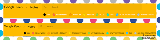 Color code all of your notes with Google Keep.