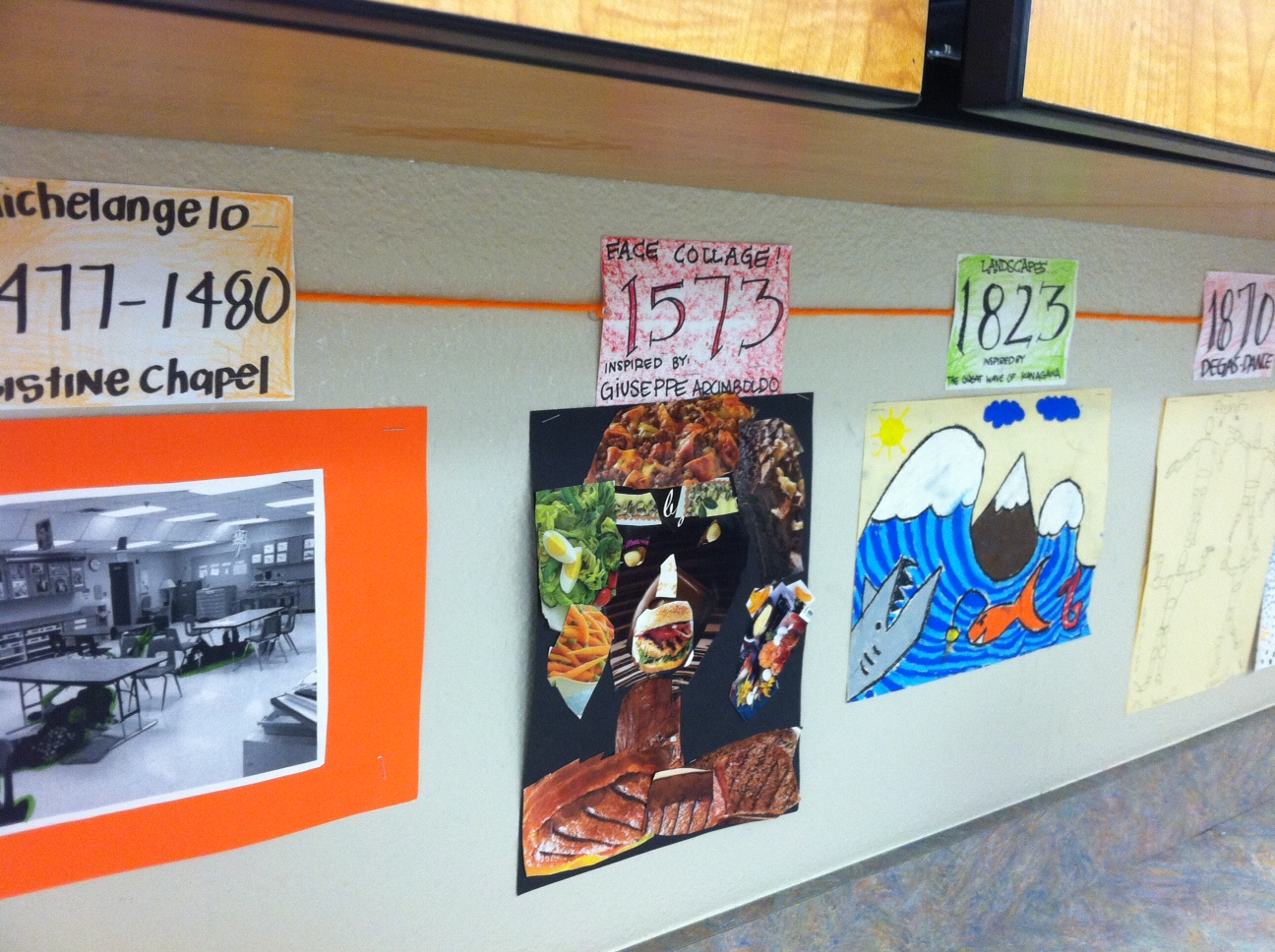 Draws Attention Art Timeline
