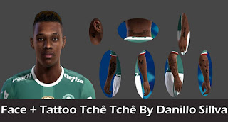 Face + Tattoo Tche Tche - Palmeiras Pes 2013 By Danillo Sillva